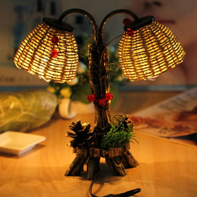 Pine double bubble process modelling lamp Archaize rural straw a night light The chandeliers that occupy the home