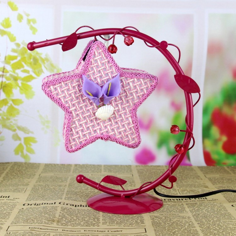 Creative star, wrought iron lamp