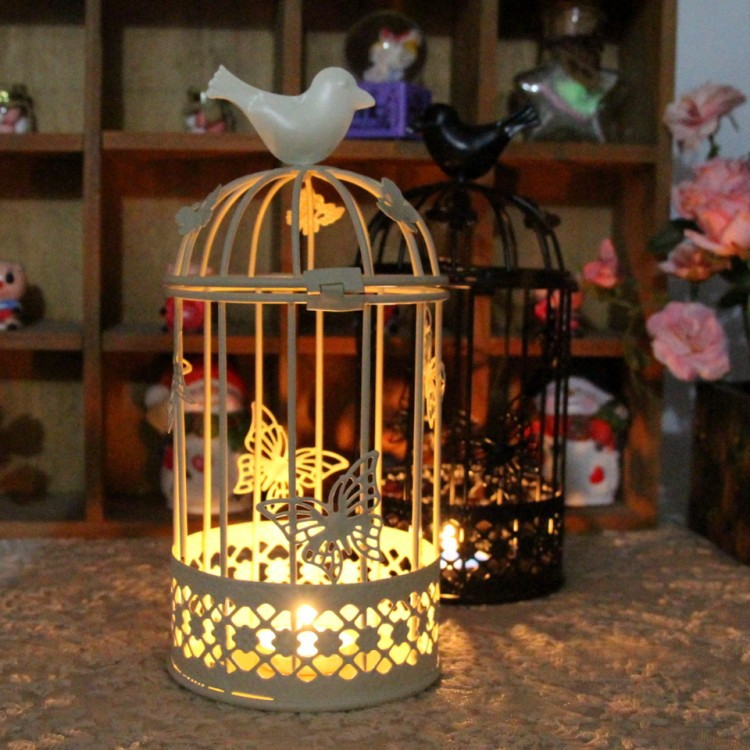 big bird cage candlestick
