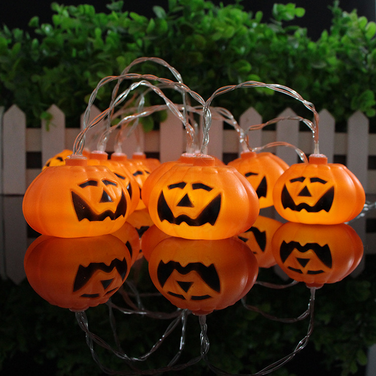2.3meter  10LED pumpkin battery lighting