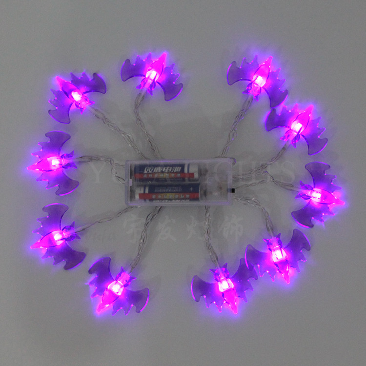 Purple bats Wacky   2.3meter  10LED battery lighting
