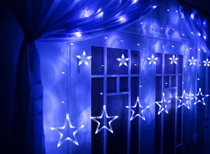 LED 12 star curtain lighting