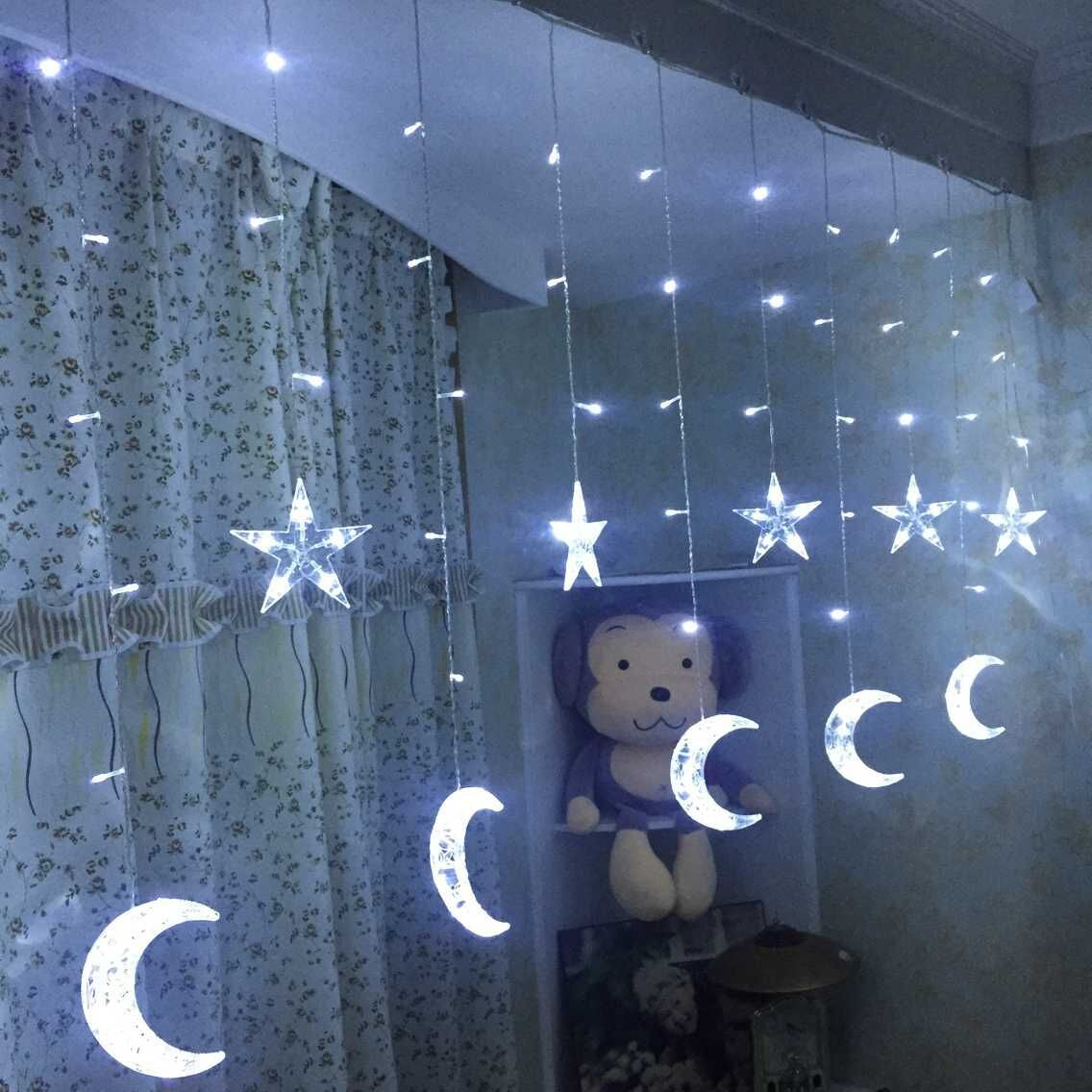 New LED  moon and  star curtain lighting