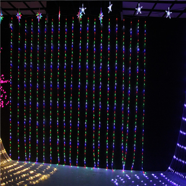 3*3m 600LEDcurtain Running water  lighting   for wedding